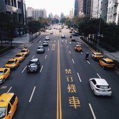 Taxi cabs in Taiwan.