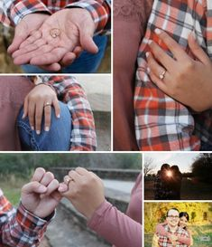 Engagement picture ideas featuring the ring