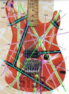 5150 Headstock Stripe Pattern | Guitar Ideas | Pinterest ...