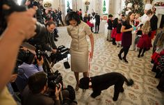 Michelle Obama Gets Glittery With Bo To Unveil The 2012 White House Holiday Decorations