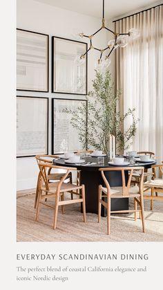 Dining Room Design, Interior Design Living Room, Dining Room Modern, Light Wood Dining Table, Mid Century Modern Dining Room, Minimalist Dining Room, Scandinavian Dining Chairs, Dining Rooms, Dining Area
