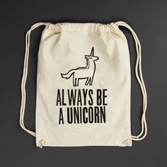 Turnbeutel Always be a unicorn white: 14,90€