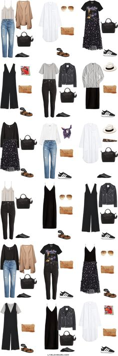 29 ideas for travel europe outfits summer capsule wardrobe Europe Outfits Summer, Paris Outfits, Mode Outfits, Casual Outfits, Fashion Outfits, Europe Spring, Italy Outfits, Summer Dresses, Fashion Clothes