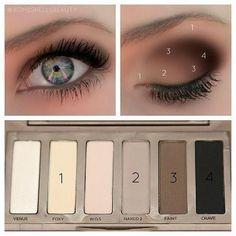 easy instructions for naked basics palette :)
