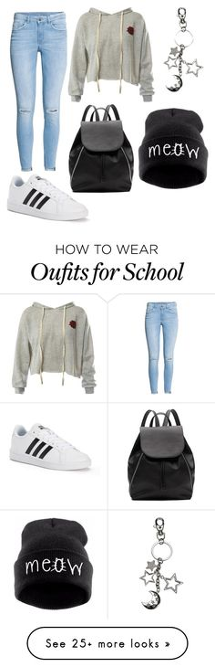 """school"" by liamendes22 on Polyvore featuring Sans Souci, adidas and Witchery"