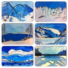 5th graders inspired by this lesson (tempera painting tints, drawing with charcoal on top)- http://afaithfulattempt.blogspot.com/2013/01/winter-white-landscape-paintings.html