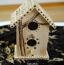 woodburned birdhouse