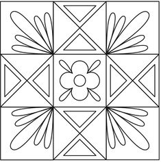 25 ideas for quilting Ohio Star blocks. Machine Quilting Patterns, Quilt Patterns, Quilting Ideas, Quilting Tutorials, Star Quilt Blocks, Star Quilts, One Stroke, Angry Birds, Quilting Stencils