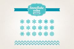 Hand drawn snowflake icons by miumiu on Creative Market