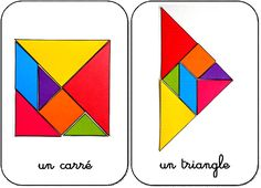 10 formes en tangram maternelle carré et triangle Montessori Math, Montessori Materials, Tangram Printable, Math Classroom Decorations, Mobiles For Kids, Tangram Puzzles, Daily 5 Math, Math Work, Kindergarten Centers
