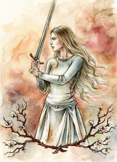 White Lady of Rohan by liga-marta on deviantART  Hot sword-wielding blonde? Check. Named Éowyn? Check. Great book? Check. :)  #Tolkien #LordoftheRings
