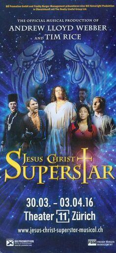JESUS CHRIST SUPERSTAR - ZÜRICH 2016 - ORIG. FLYER ANDREW LLOYD WEBBER AUFKLAPPB