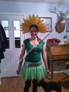 Homemade Flower Costume: I looked really hard to find a Halloween costume for 2010. I wanted to be a cupcake but didn't have the time to make it. And the store was sold out of