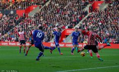 Eden Hazard scored another early goal for Chelsea as he opened the scoring at Southampton in just the sixth minute