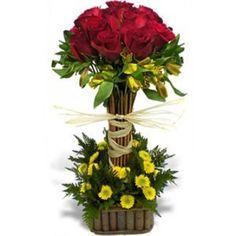 arreglos de flores con rosas rojas - Buscar con Google