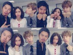 Xinyi Zhang, publicó varias fotos de ella misma con Henry Lau y Lu Fangsheng