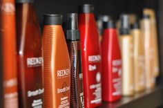 I keep hearing great things about Redken! Redken Hair Products, Hairdressers, Coffee Bottle, Healthy Hair, Don't Care, Cleaning Supplies, Beauty Products, Salons, Hair Care
