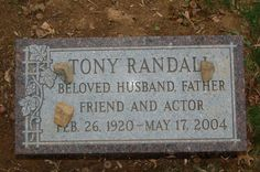 "Tony Randall (1920 - 2004) He played Felix on the TV series ""The Odd Couple"", he also appeared in ""Pillow Talk"", ""Will Success Spoil Rock Hunter?"", ""The Mating Game"" and other movies"