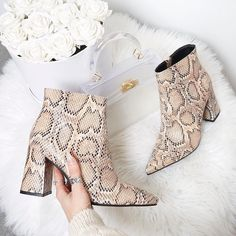 77de1a3fd504 Keep your bootie game sassy and HELLA  snakey 😍 Shop HOLLIE £39.99  pdbae