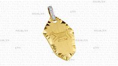 Rupestre - Pingente em ouro amarelo com diamantes.