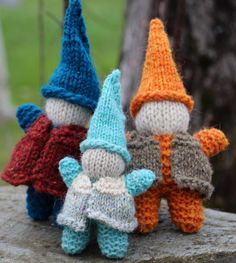 Plain and Joyful Living: Hand Knit Gnome with Vest