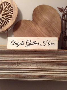 Handmade Wooden Sign  Angels Gather Here  Rustic by LoveLettersMe