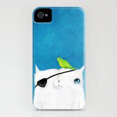 Pirate Cat iPhone Case by Dale Keys - $35.00