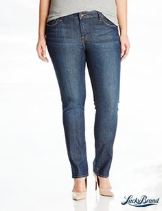 Lucky Brand Women's Plus-Size Ginger Straight Jean In Ol' Stevens Wash