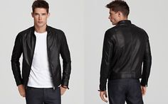 Theory Reague L Fortin Leather Jacket