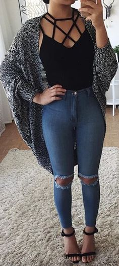 criss-cross top   jeans