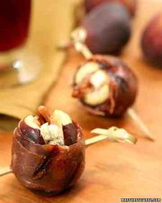 See our Grilled Prosciutto-Wrapped Figs with Blue Cheese and Pecans galleries