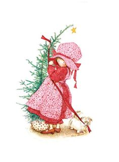 Holly Hobbie, Christmas tree and puppy