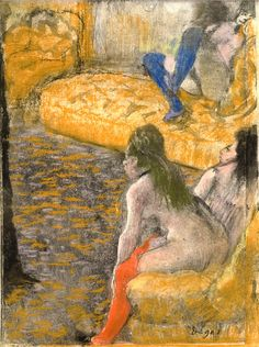 """We've all seen Edgar Degas' dancers — but what about his laundresses, prostitutes and madams? A new side of the artist is explored in MoMA's """"Edgar Degas: A Strange New Beauty. Edgar Degas, Renoir, Degas Drawings, Degas Dancers, Art Ancien, Edouard Manet, Post Impressionism, Art For Art Sake, Museum Of Modern Art"""