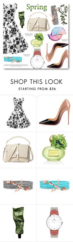 """Spring Day to Night"" by angelstar92 ❤ liked on Polyvore featuring Christian Louboutin, Theory, Coach, Aesop, VIcenza, daytoevening and francoflorenzi"