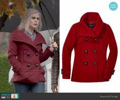 Liv's red coat on iZombie Sweater Jacket, Vest Jacket, Winter Style, Autumn Winter Fashion, Fashion Tv, Fashion Outfits, Hourglass Figure Outfits, Vintage Style, Vintage Fashion