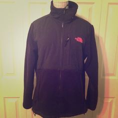 Limited edition breast cancer north face  Limited edition breast cancer black north face size M with pink stitching.  Barely worn!!! North Face Jackets & Coats