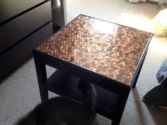 Heart Maine Home: How to make a penny-top table {DIY}