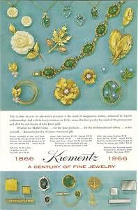 1966 Krementz Gold Overlay Jewelry Vintage Print Ad