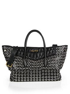 Miu Miu - Large Biker Double-Handle Shopper