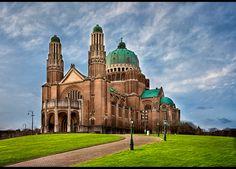 Basilika von Koekelberg der Hl. Herzen auf dem 100 m hohen Sacré-Cœur