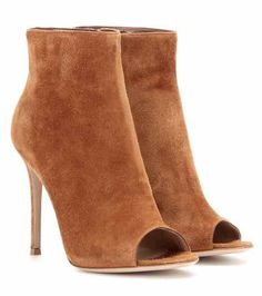 mytheresa.com exclusive suede open-toe ankle boots   Gianvito Rossi