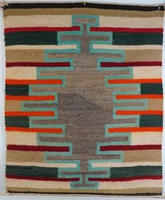 Native American Antiques and Collectibles - Navajo Saddle Blanket