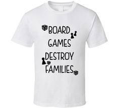 Board Games Destroy Families (Black Font) Funny Christmas Holiday T Shirt