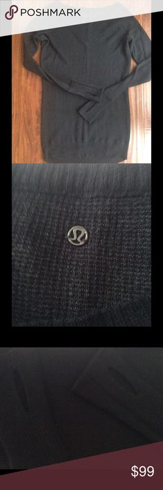 Lululemon, Chai Time II, sweater Lulu lemon, size 4, loose fitting, boatneck style, after yoga cashmere blend, excellent condition! Highly sought after Chai Time reversible sweater! lululemon athletica Sweaters Crew & Scoop Necks