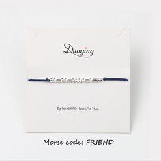 Custom #Bracelat #Compre #Morse code #Duoying #Marca Pulseira #AMOR #Personalized #DuoyingBrand #Morse #Code #Bracelet #Custom #LOVE HOPE #FRIEND #Gold/Silver Color #Personied Hidden Message Bracelet for Women