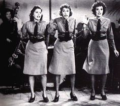 The Andrews Sisters in 'Buck Privates' with Abbott And Costello