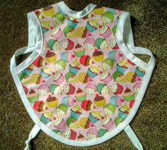 Waterproof Bapron/The Baby Apron - 24 months - 3T with Cupcakes by GrandmaSewsBest on Etsy