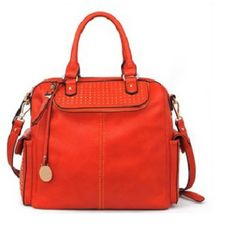 .Urban Expressions Lucca Handbags Vegan Leather Persimmon Bag on SALE $59. #bagmadness #urbanexpressionslucca