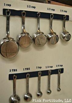 Measuring Cup and Spoon Organization by coconutheadsurvivalguide.com #organization