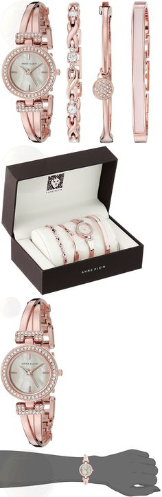 Womens 64519: Anne Klein Rose Goldtone Crystal Bangle And Watch Set -> BUY IT NOW ONLY: $260 on eBay!